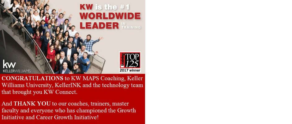 KW Named Top Training Organization
