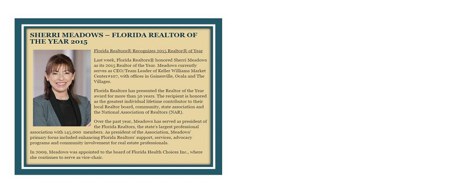 Florida Realtor of the Year 2015